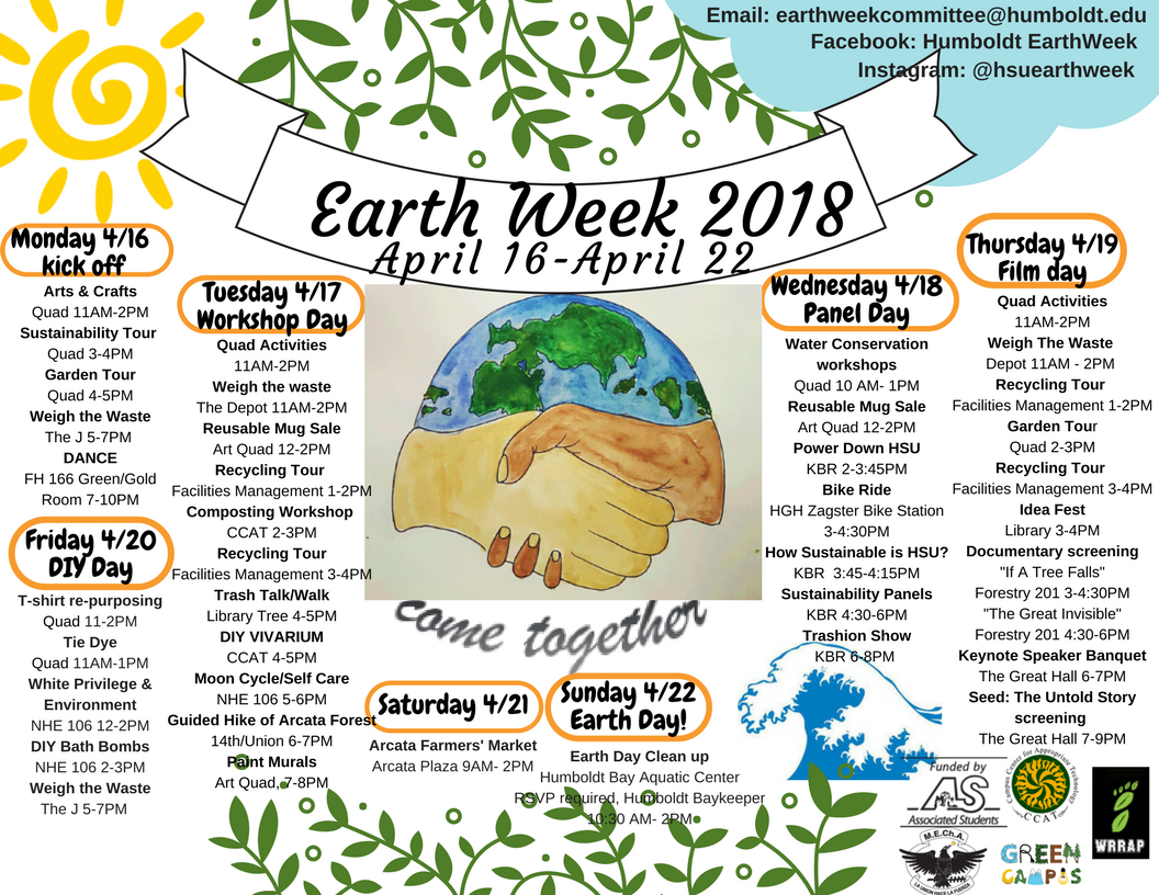 Earth Week 2018 HSU Calendar of Activities