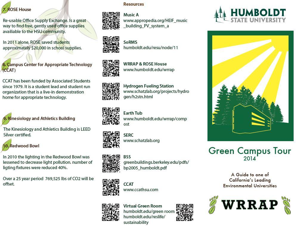 HSU Self-Guided Sustainability Tour Tri-fold page 1