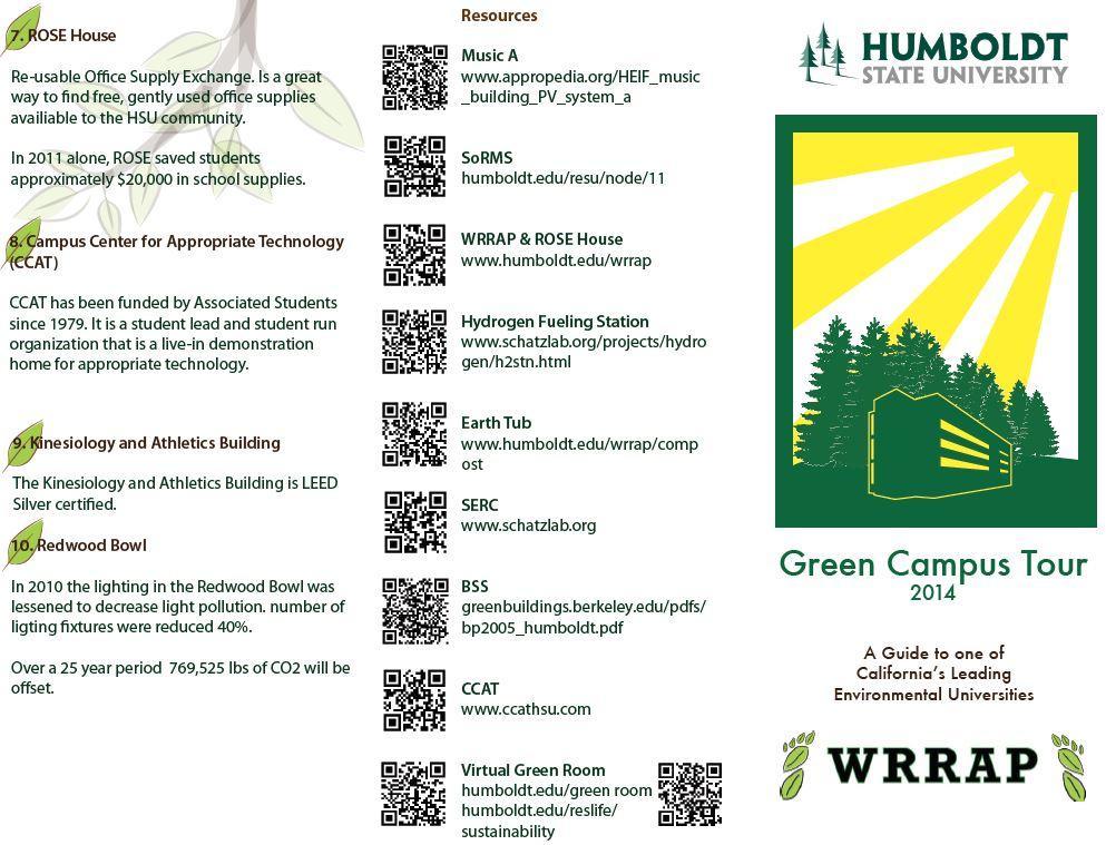 HSU Self-Guided Sustainability Tour Tri-fold page 1
